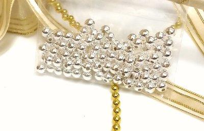 925純銀珠定位珠4mm(1顆4元)DIY材料-手作蠶絲蠟線-手鍊項鍊-編織-飾品玉石圓珠幸運繩-散珠2-3牛手創 高雄市