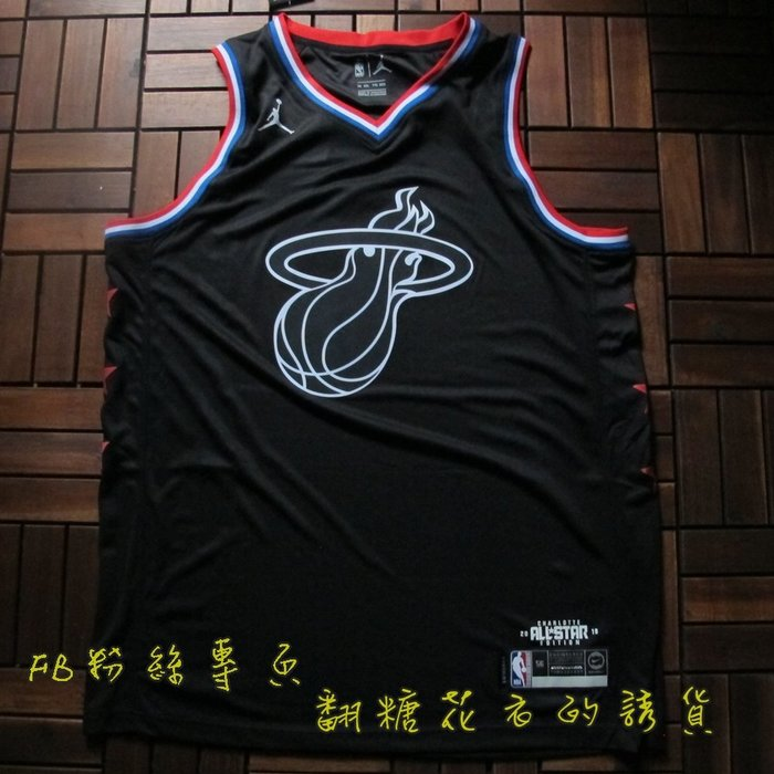 NBA2019全明星賽球衣邁阿密熱火隊 Kyrie Irving    歐文  Wade 韋德  黑色T恤