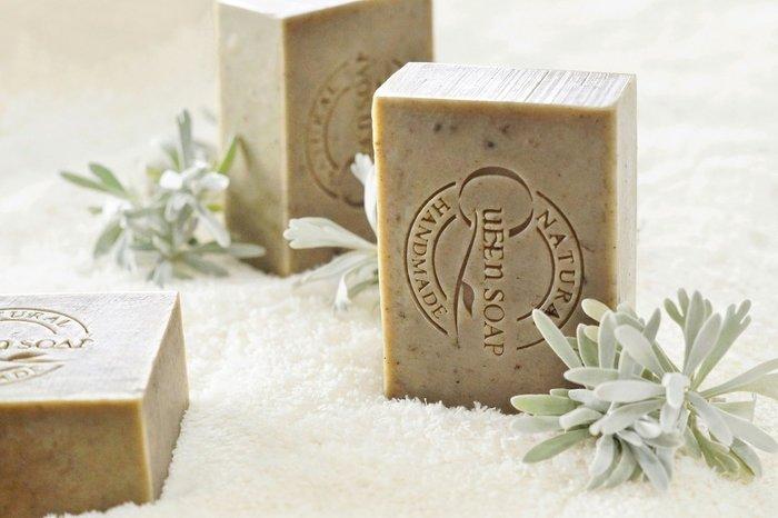 女王天然手工皂「艾草芙蓉-淨身平安皂」  手工香皂  手工肥皂  冷製手工皂