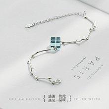 日韓代購♥GBOY潮流男裝 一米海岸線手鏈女純銀正韓簡約個性學生森系閨蜜清新飾品