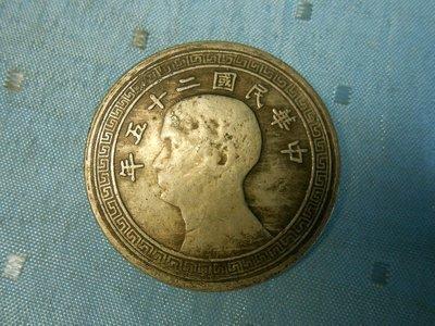 【玉文坊】-古錢幣-*中華民國二十五年  * 壹圓 ***148
