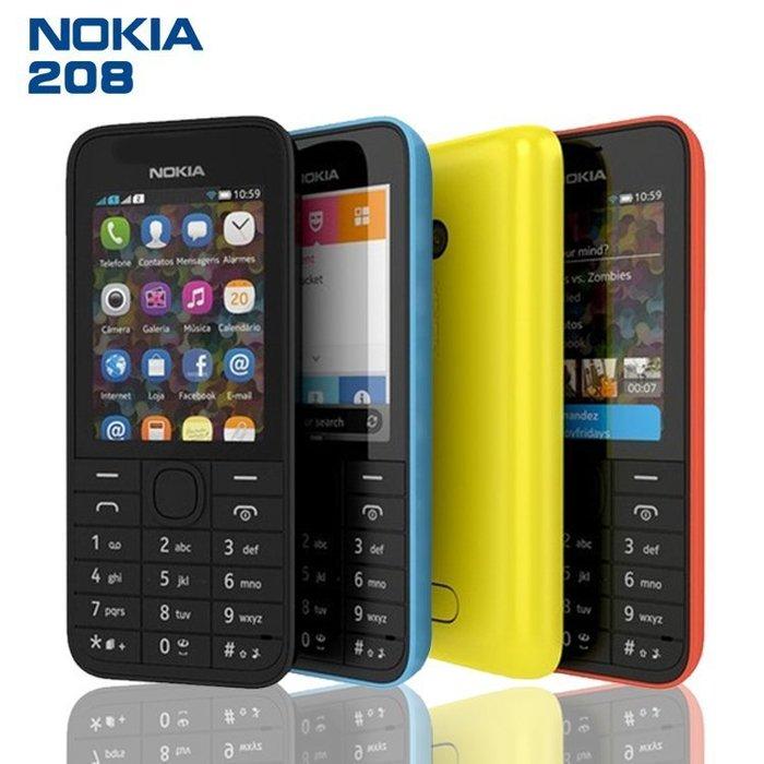 Nokia 208《軍人機》附發票,送座充,大螢幕,軍人,無照相,老人機,軍用機,科技,直立