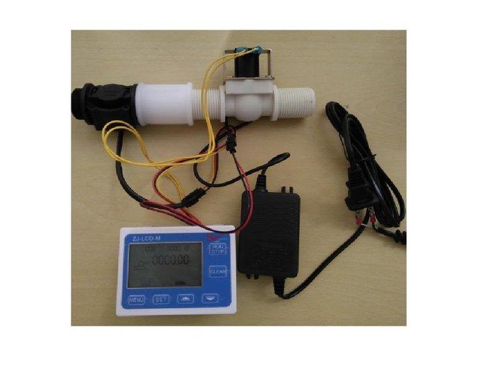 流量控制器+1吋管流量計AC110V 電壓器+1吋電磁閥