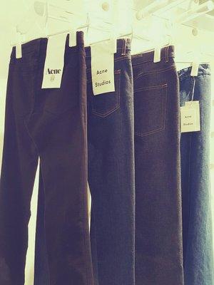 [ RainDaniel ] ACNE STUDIO 瑞典時尚品牌 純色丹寧 窄管/直筒 中腰牛仔褲