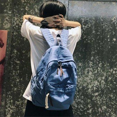 後背包 韓國書包復古原宿超火百搭學院高中學生帆布雙肩包