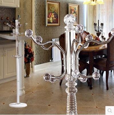 【優上】歐式鐵藝臥室落地衣帽架 不銹鋼衣服架子現代客廳掛衣架「白色」