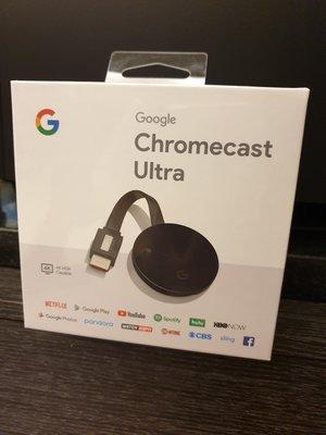 [美國直購] Google - Chromecast Ultra 4K – Black