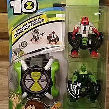 Ben 10 Omni Launcher Transform Battle Green and Red Figure
