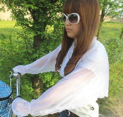【東京數位】全新 現貨免等 蕾絲款 夏天女款抗UV防曬衣防紫外袖套 開車 腳踏車