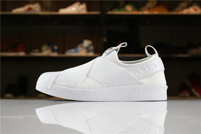 D-BOX ADIDAS SUPERSTAR SLIP ON M 白色 全白 繃帶 貝殼頭 滑板鞋 百搭休閑鞋