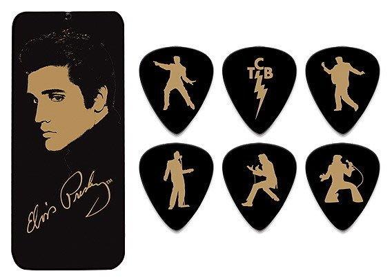☆ 唐尼樂器︵☆ Dunlop 貓王 Elvis Presley 簽名限量款吉他 Pick 彈片(6片典藏盒裝)