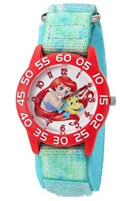 【ToyGo】美國空運 迪士尼小美人魚 愛莉兒公主 指針學習錶/石英 手錶 (粉綠)