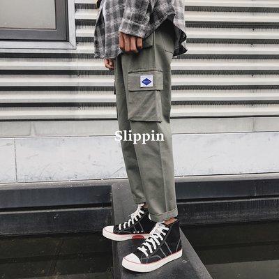 【Slippin】 免運秋季新款潮流韓版直筒休閑褲男寬松運動原宿BF風百搭工裝褲