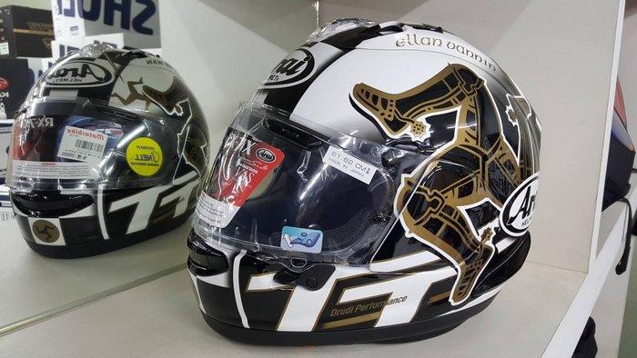 ARAI RX-7X IOM TT 2017 曼島TT 全罩式安全帽 售價:20000元 網路價:19000元