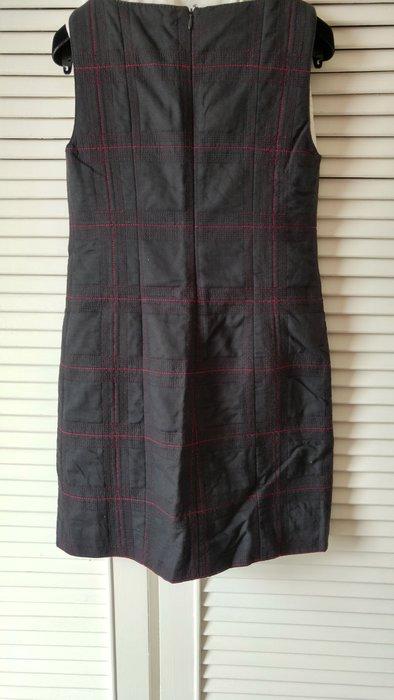 專櫃真品【Moschino】鐵灰大紅格連身背心裙 & 無袖小洋裝(原價$32100)