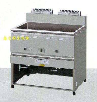 鑫忠廚房設備-餐飲設備:60L落地式豪華強火型油炸機-賣場有冰箱-工作臺-西餐爐-水槽-烤箱