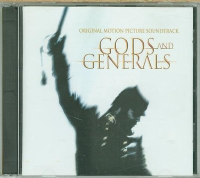 """戰役風雲 諸神戰役-CD+DVD Gods and Generals""- Randy Edelman,美版,35"