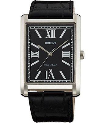 可議價【 幸福媽咪 】網路購物、門市服務 ORIENT 東方錶 公司貨 經典方型石英錶-黑 FUNEM002B