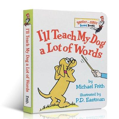 英文原版 I'll Teach My Dog a Lot of 100 Words 我教狗狗很多詞 啟蒙紙板書撕不爛單詞