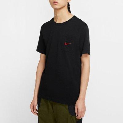 【吉米.tw】NIKE AIR 口袋T 刺繡LOGO 短袖 短T CK2235-黑010 白100 MAR