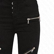 【WEEKEND】 UNRAVEL 高腰 排扣 拉鍊 緊身 窄管 牛仔褲 黑色 19秋冬