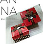 編號E107- - - - - - 四方咖啡結紅禮物盒 (小)...