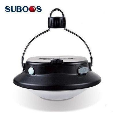 【優上精品】可充電USB飛盤型 野營燈 吊燈 帳篷燈掛燈(Z-P3114)
