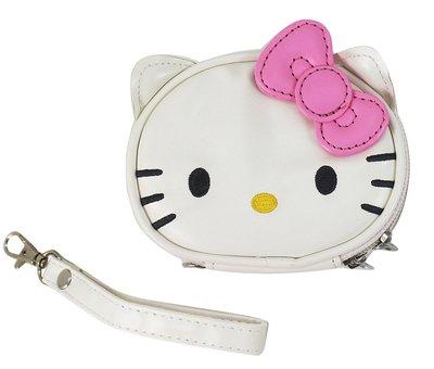 【卡漫迷】 微瑕疵出清 Hello Kitty 手拿包 粉 仿皮革 ㊣版 萬用袋 收納包 附掛繩 零錢包 化妝包 飾品盒