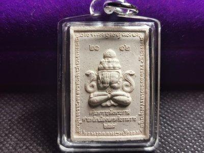 泰國佛牌~2549年~阿贊坤潘~必打旁八甘~背面神哈魯曼~ 經典郵票模~白色肉