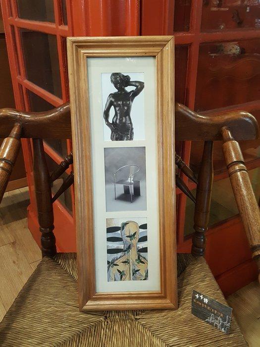 【卡卡頌 歐洲跳蚤市場/歐洲古董】歐洲老件_實木框 裝飾 掛畫  pa0130