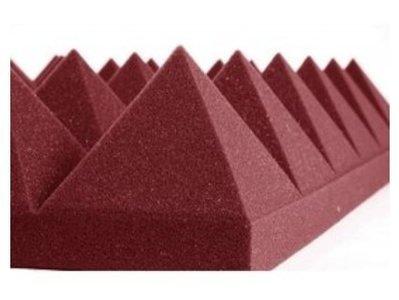 《名展影音》美國 Auralex Pyramid 4吋 金字塔吸音棉 人聲配唱空間處理 NRC 0.95 61x61cm