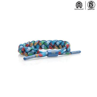 RASTACLAT 經典款 SUBURBAN SCRAWL BLUE 雷獅特 手環 鞋帶手環⫷ScrewCap⫸