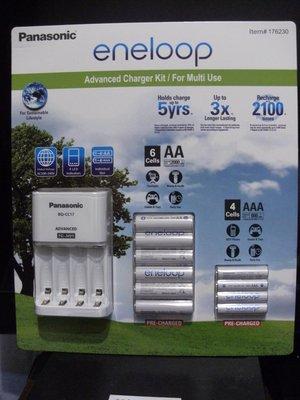 好市多代購Panasonic eneloop 電池(3AA電池6顆+4AAA電池4顆)+充電器套組