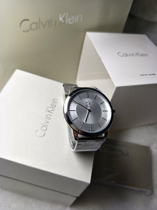 全新正品 calvin klein CK 男錶_K3M21126_DW 米蘭錶帶 40MM 有出女款 23CMM 對錶