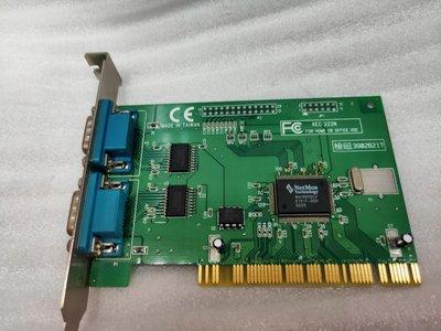 【電腦零件補給站】 Kouwell KEC 222N 2x serial COM port RS232 PCI 擴充卡
