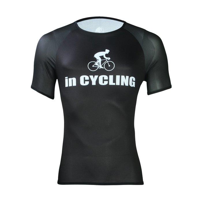 【ILPALADINO】男款機能速乾透氣内衣T-shirt :: 黑色款