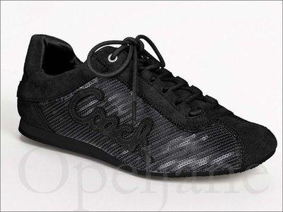 Coach Sneaker Shoes 流行亮片綁鞋帶休閒鞋慢跑鞋帆布鞋7.5號  免運費 愛Coach包包