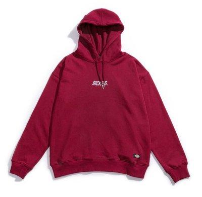GOSPEL【DICKIES Dropped shoulder hoodie】 落肩款 帽T (酒紅)DA8270471