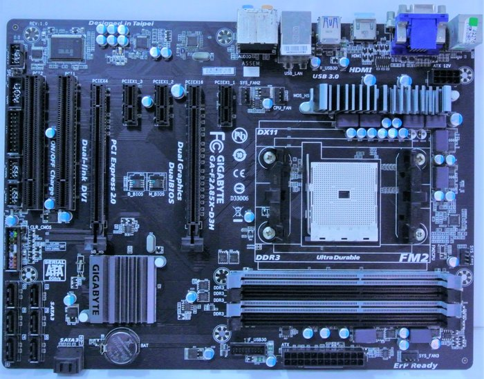 ~ 駿朋電腦 ~ 技嘉 GA-2A85X-D3H FM2主機板 DDR3 USB3.0 顯示 $800