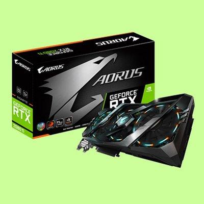 5Cgo【聯強】技嘉 NVIDIA AORUS GeForce RTX 2080 Ti 11G 電競顯示卡 3年保 含稅