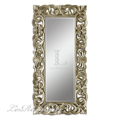 【芮洛蔓 La Romance】Mindy Brownes 古典鏤空香檳金箔大型落地鏡/玄關鏡/穿衣鏡