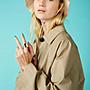【ASOS】Monki coat with oversized pockets in beige/風衣