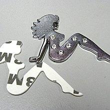 觀塘實店 ~ HK$10/1件 ~ 全新美女仿鑽石金屬汽車裝飾貼, 車身金屬貼, 手機裝飾貼