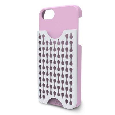 平廣 iLuv Frill 粉紅色 手機殼 背蓋 硬殼 適蘋果 APPLE iPhone 5 5S SE 可收納悠遊卡