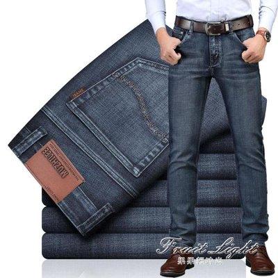 牛仔褲男直筒寬鬆款彈力黑色水洗休閒薄款潮