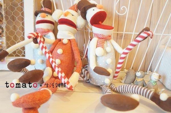 ˙TOMATO生活雜鋪˙日本雜貨大嘴巴布偶糖果聖誕老人雪人裝飾吊飾品