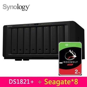 @電子街3C特賣會@群暉 Synology DS1821+ Seagate那嘶狼6TB*8 (ST6000VN001)