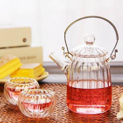 手工花草茶具耐熱玻璃 花茶壺過濾網 晶采巧致壺 泡工藝花茶組合