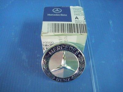 小亞車燈╠ 全新BENZ W211 賓士 W211-07年小改款水箱罩正廠標誌MARK平標