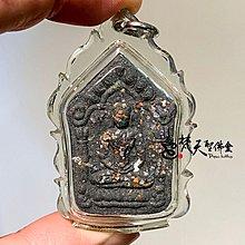 梵天聖佛盦 泰國真品佛牌 - 帕阿贊毆 神賜滿願坤平 純銀符管 靛色款